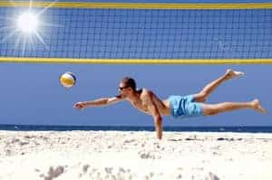 Beachvolleyball am Ostseestrand