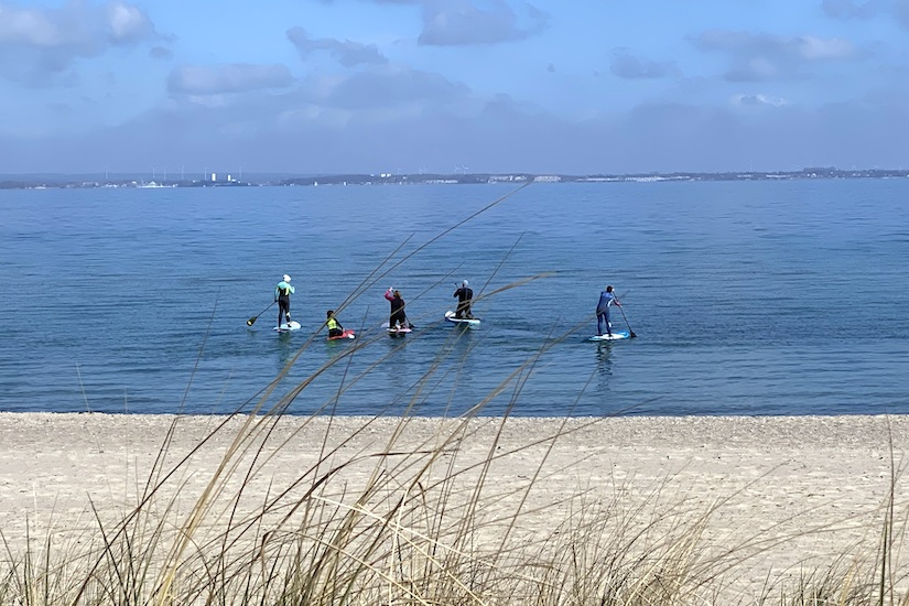 Stand-Up-Paddling in Niendorf